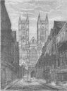 WESTMINSTER ABBEY. West front of Westminster Abbey, from Tothill Street c1880